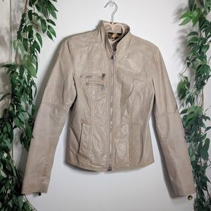 Laundry by Shelli Segal Real Leather Moto Jacket